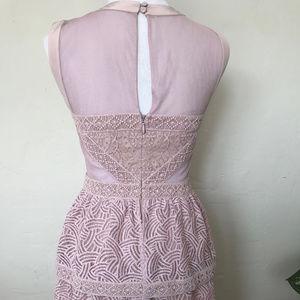 BCBGMaxAzria Dresses - BCBG Lavender Lace Cut out Party Dress
